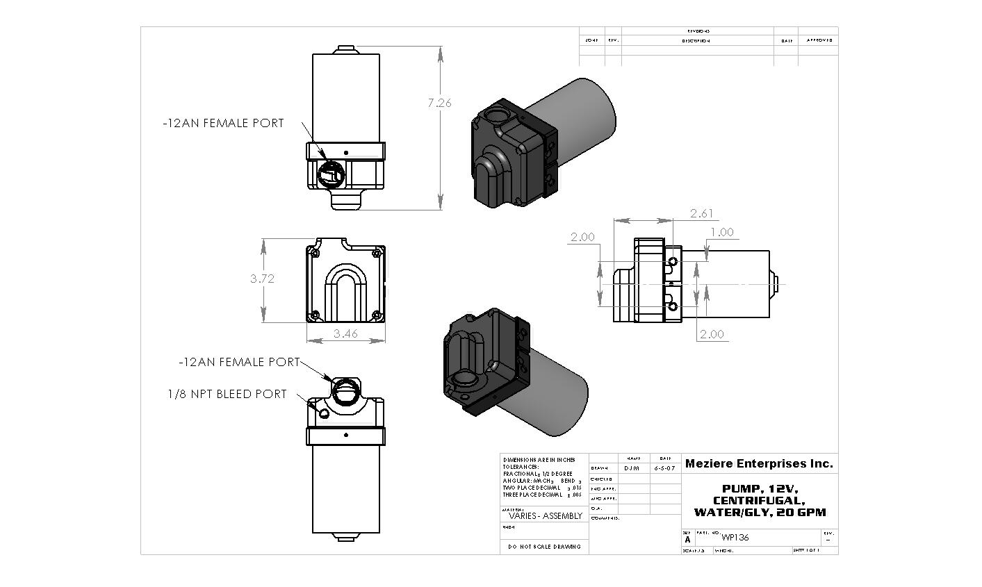 electric pump remote 20 gpm inline single in single out meziere rh meziere com Simple Wiring Diagrams meziere water pump wiring diagram