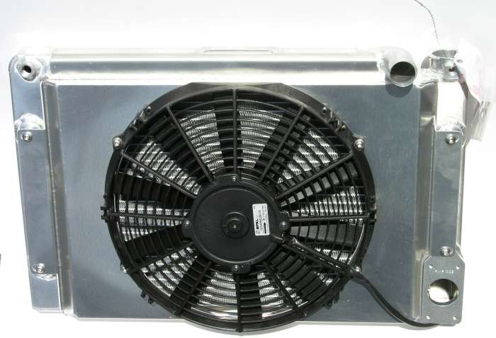 "Radiator, Pro Stock style, 14"" x 22"", 1.25"" top hose, with ..."