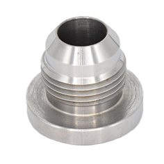 Weld Fitting, #10 AN Male, Aluminum