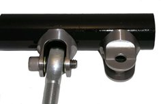"Contour Clevis, fits 1.25"" tube, slot feature inline"