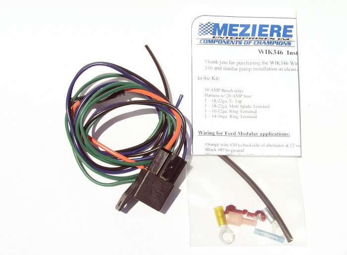 water pump relay kit meziere enterprises rh meziere com pierburg electric water pump wiring meziere water pump wiring diagram