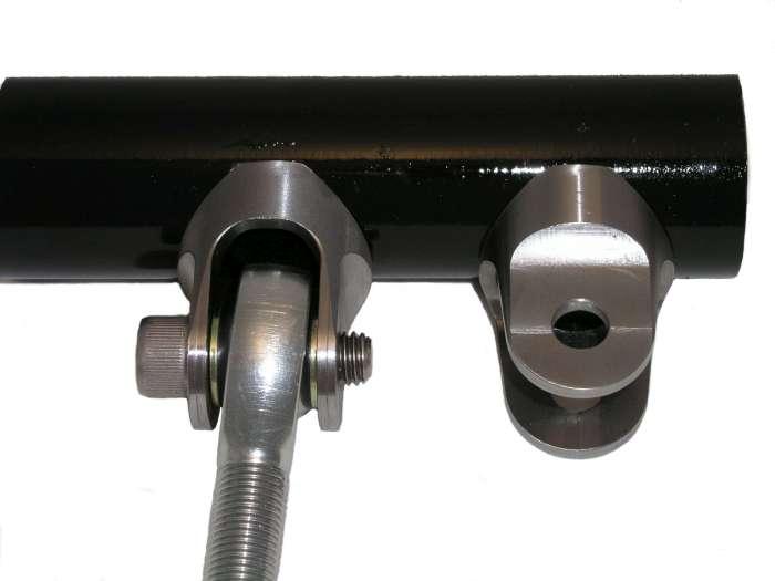 Contour clevis fits quot tube slot feature inline