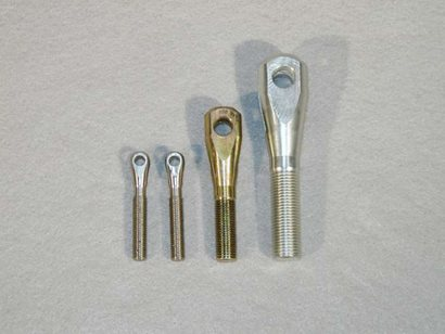 Threaded Clevis, 1/4-28 RH Thread, Alloy Steel