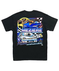 Racing Apparel, Black T-Shirt, Door Car Design, Adult Medium