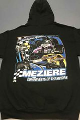 Hooded Sweatshirt, Dragster Design, Adult Medium